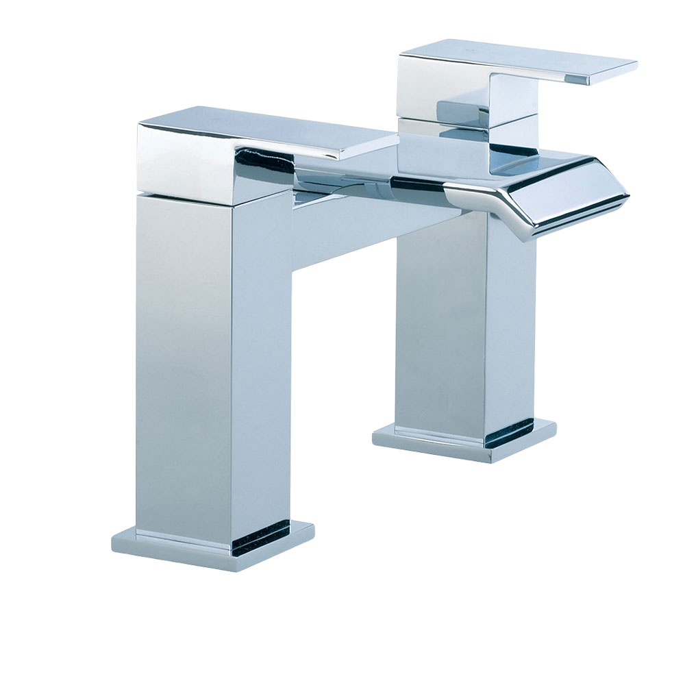 Arian azara designer wide waterfall basin mixer tap bath for Bathroom taps